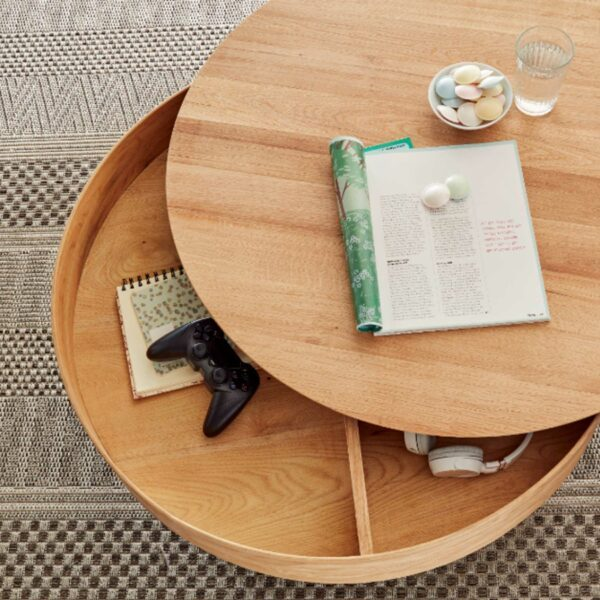 MCA Furniture Maivin Couchtisch – Deckplatte gedreht