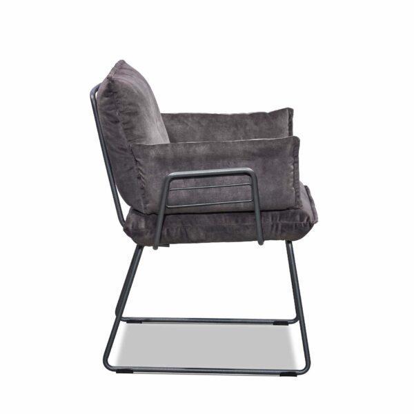 Musterring Pinero Armlehnstuhl Kufengestell in Charcoal grey pulverbeschichtet