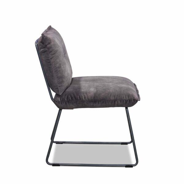 Musterring Pinero Esszimmerstuhl mit einem Kufengestell in Charcoal grey