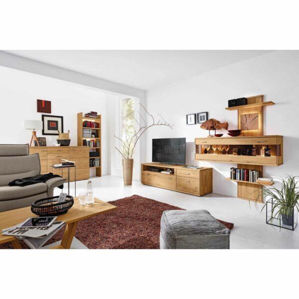 Musterring Portland Sideboard mit Regal – Wohnbeispiel