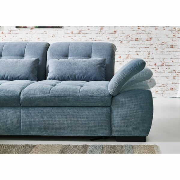 PlanSofa Samos Sofa in Detailansicht Armteilverstellung.