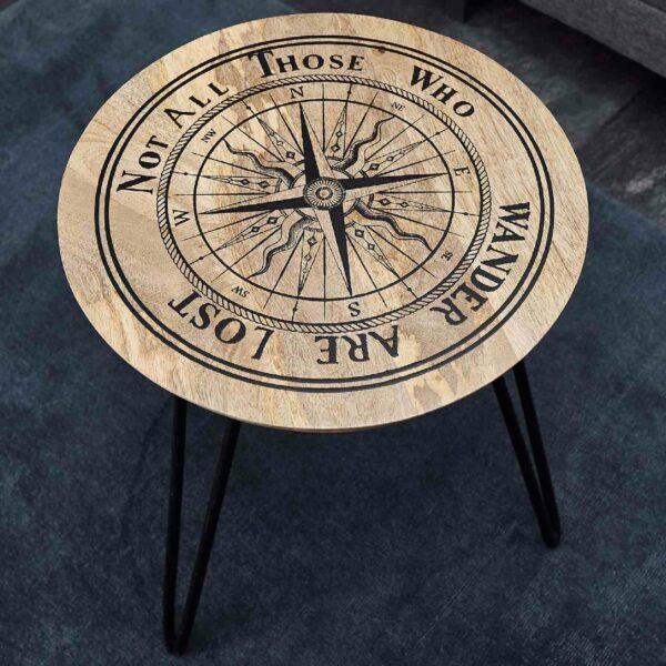 Trendstore Malea Beistelltisch – Detail Tischplatte