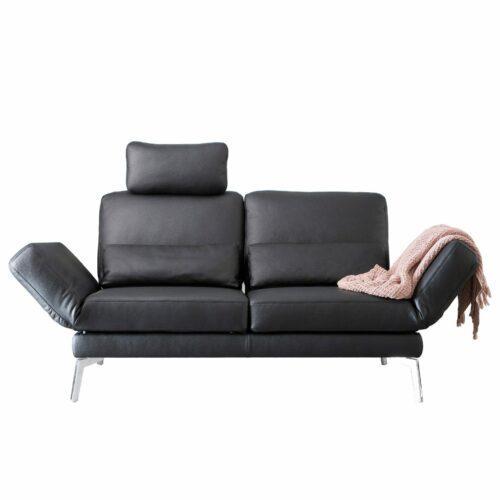 """Couchliebe """"Chicago"""" Sofa 2-Sitzer in """"Cento"""" 622 nero"""