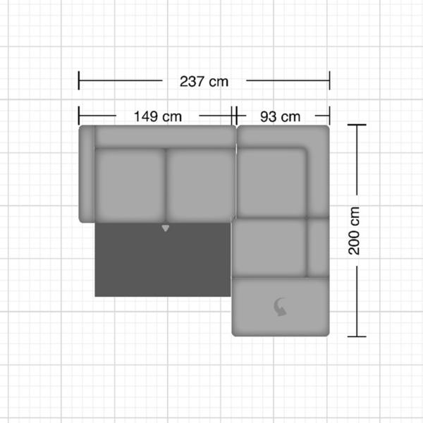 Couchliebe Zermatt Elementgruppe – Maße