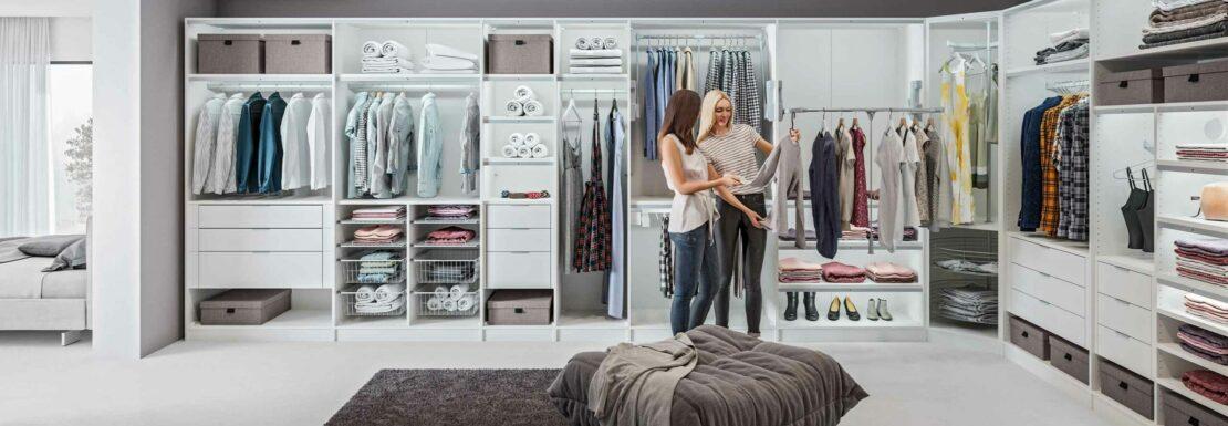 Kleiderschranksysteme für jede Raumgröße