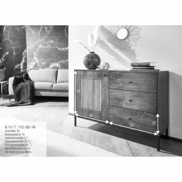Trendstore Gaio Sideboard 110 cm – Maße