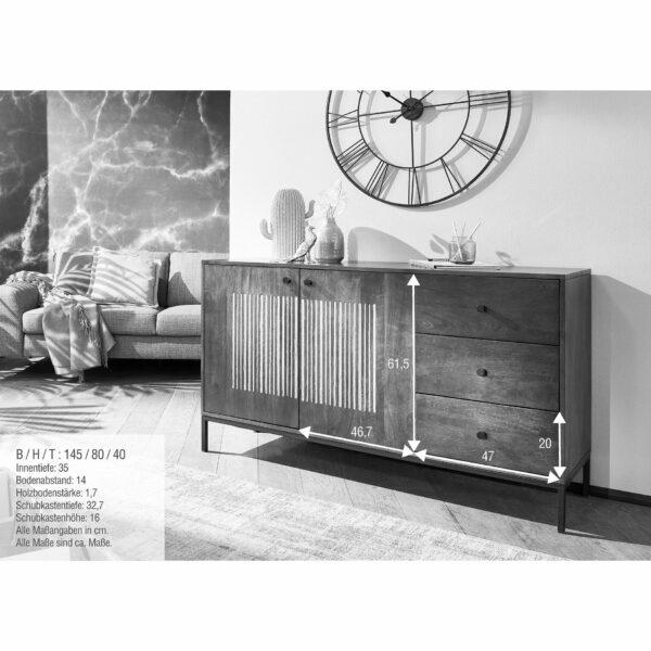 Trendstore Gaio Sideboard 145 cm – Maße