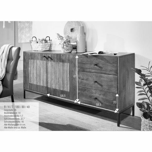 Trendstore Gaio Sideboard 180 cm – Maße