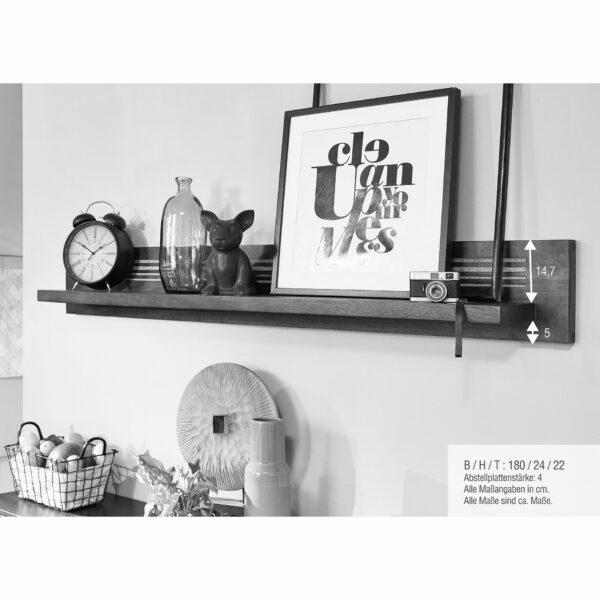 Trendstore Gaio Wandregal 180 cm – Maße