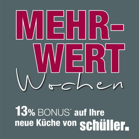 13 % Rabatt auf Schüller Küchen