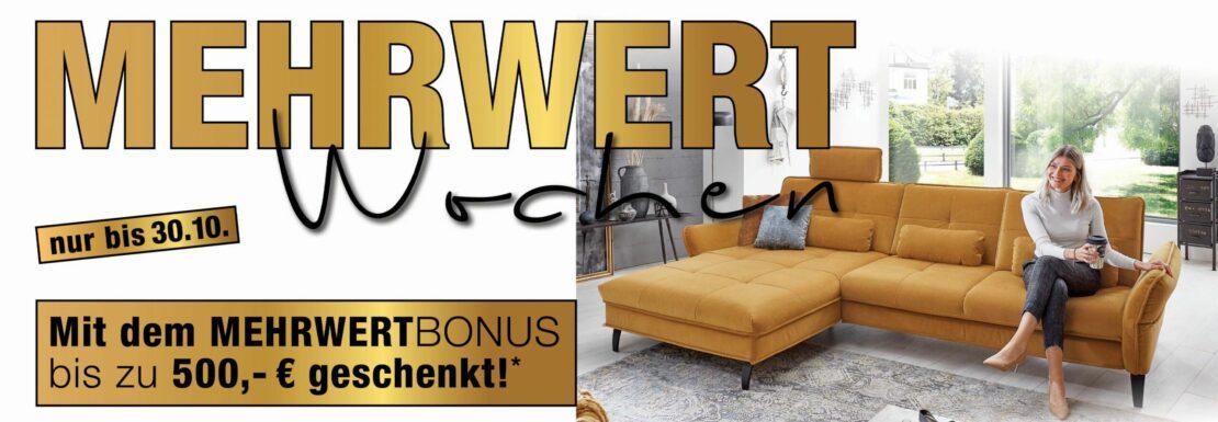Mehrwert-Bonus bei SIZZ - Sofa, Tisch & Stuhl