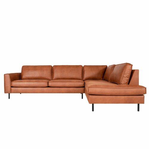 Dixx Divani Five Sofa in Leder Kentucky. Ottomane rechts