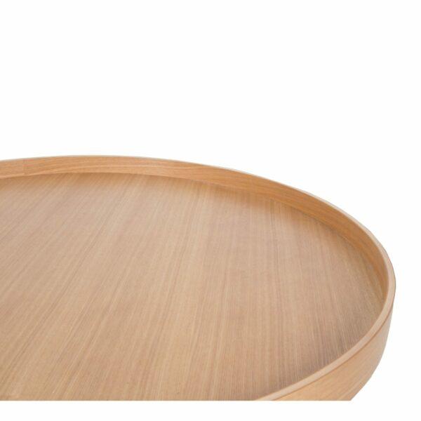 Raumfreunde Oak Tray Couchtisch in Holzfarben Eiche funiert Detail Tischplatte.